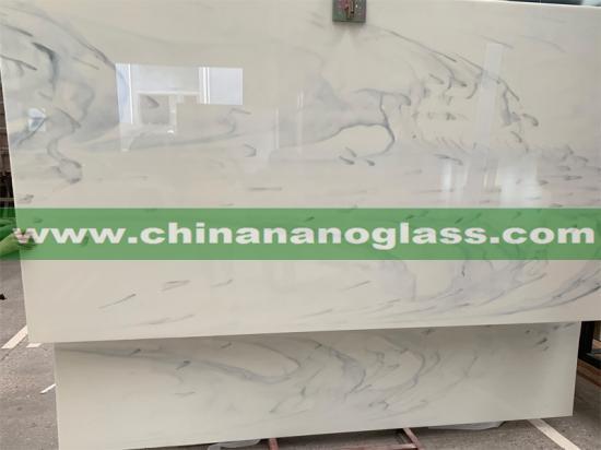 Cloudy Nano Glass Slab 300x160x2cm