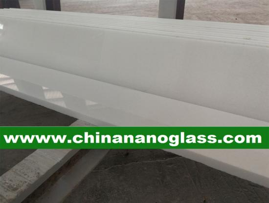 White Marmoglass Step Stair