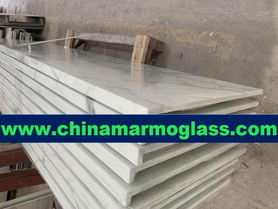 Nano glass Calacatta gold slab for kitchencabinets and bathroom
