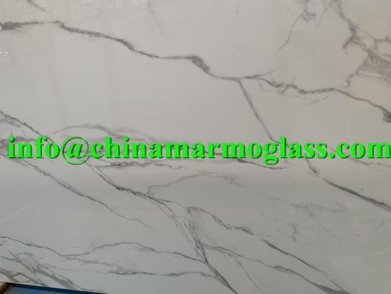 Calacatta White Nano Glass Stone Surface