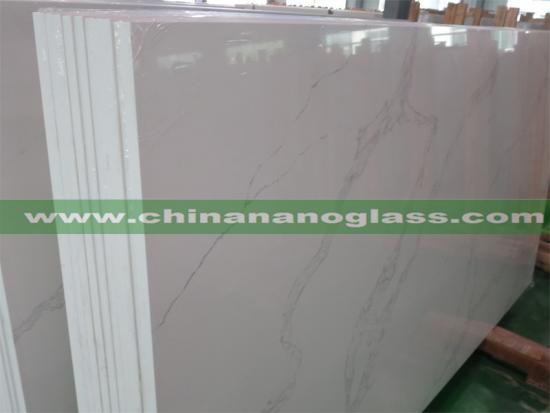 Polished Quartz Stone White Calacatta Quartz Slabs