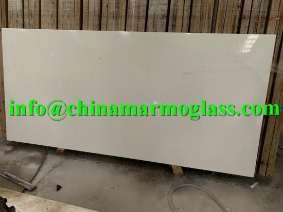 3cm White Nano Glass 3cm Polished Slabs to USA market