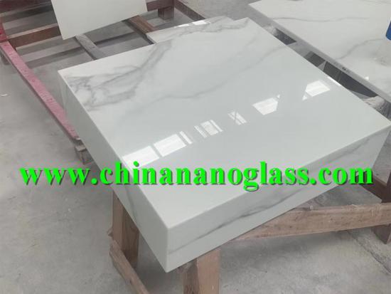 Nano Glass Calacatta White Nanoglass for kitchen bathroom countertops