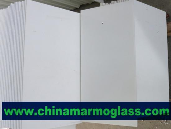 Beatiful White Crystal Marmoglass Tiles 600x300mm
