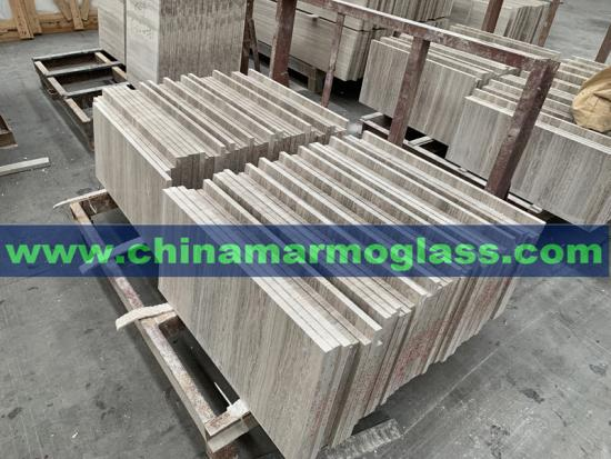 China White White Wood Grain Marble Tiles for Project
