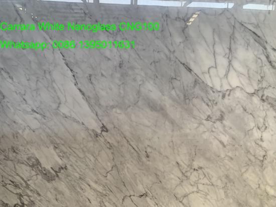 Carrara Nanoglass White Artificia Marble Slabs