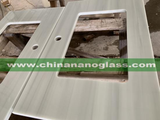 2CM and 3 CM Wood Vein Nanoglass Slabs for Countertop and Vanitytop