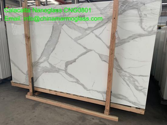The Biggest Factory The Latest Technology 3D Printing Nanoglass Calacatta Gold Slab CNG0801