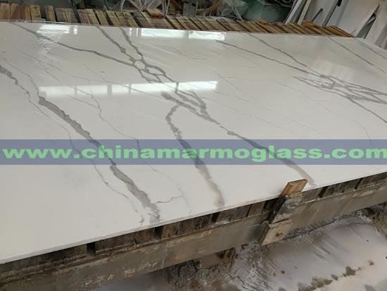 Calacatta Quartz Slabs Calacatta Quartz stone Prefab Countertop