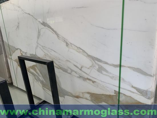 Italy Calacatta Gold Marble Polished Slab for Countertop