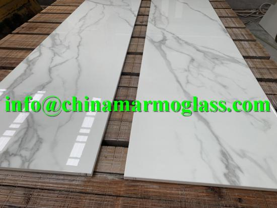 Nano glass Nano Calacatta Countertop Nano Calacatta Glass Stone Slabs and Countertops Available