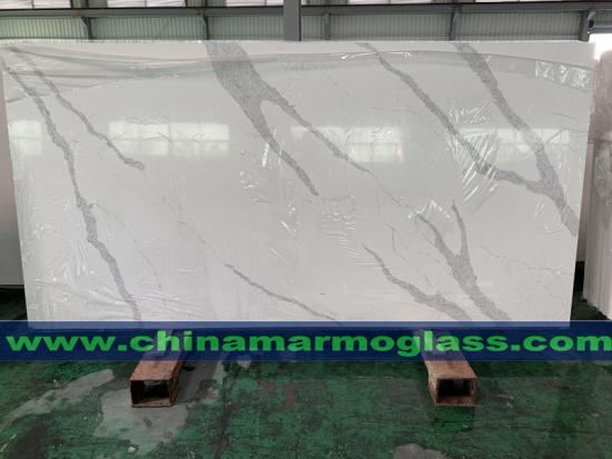 New Type Calacatta Vein Quart Slabs Calacatta Quartz Stone Slabs