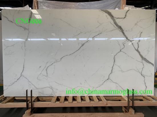 Calacatta White Nanoglass Color CNG006