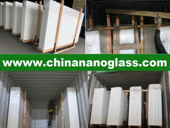 Nano Glass White Marble Slabs 2860x1640x18mm
