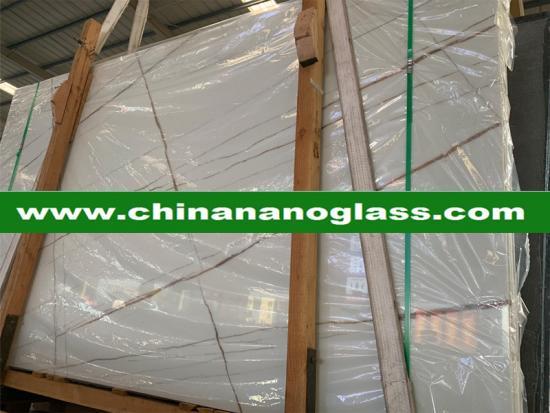 Factory Direct Supply Calacata white Nanoglass Stone For Wall, Floor, Countertop