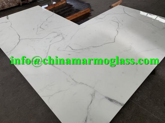 Crystal Calacatta Nano Glass Slab Stone