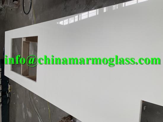 Super nanoglass white crystallized glass stone panel nano glass