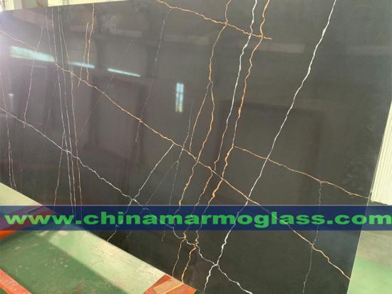 Calacatta Black Quartz Stone Slabs