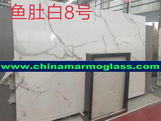 Best price well polished manmade artificial white marble tile Artificial Calacatta White Marble Tile