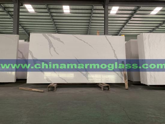 Artificial Calacatta White Quartz Countertops