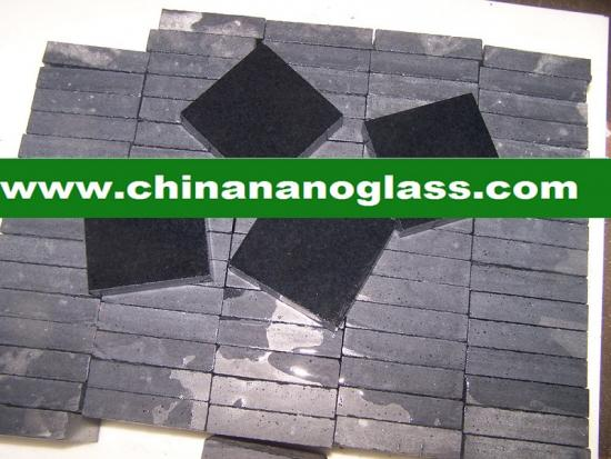 Black Marmoglass Black Crystallized Glass Panel