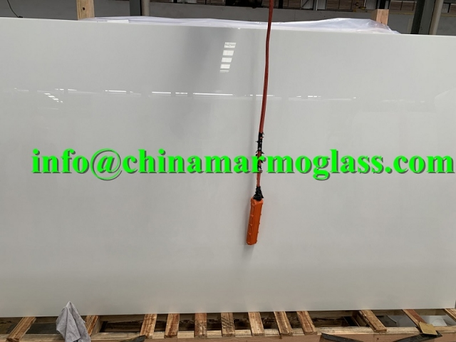Marmo Glass Calacatta Color Slab