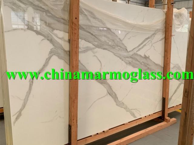 Nano Glass Calacatta Slab 20191221