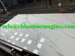 12mm Calacata gold Nanoglass marble