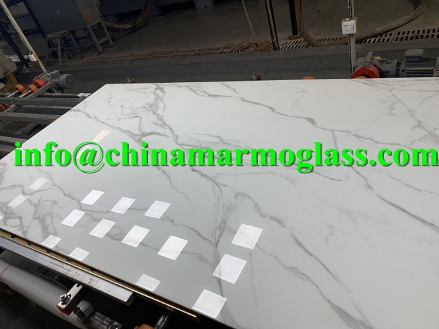 12mm Calacatta White Nano Glass Stone Slab