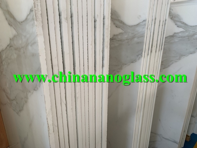 20mm Calacatta Nanoglass Marble Beautiful Slabs