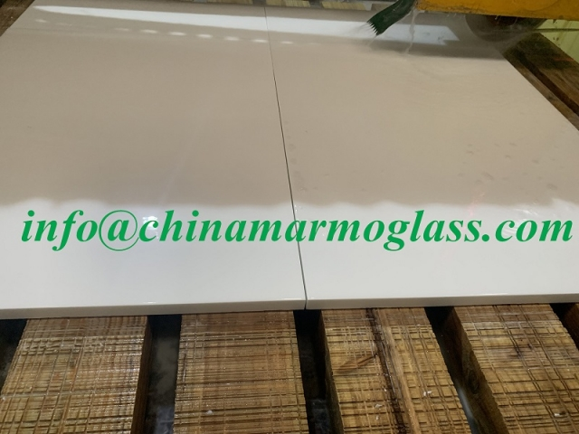 30mm Nano Crystallized White Glass Tiles