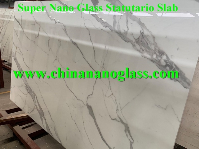 Super Nano Glass Statutario Slab