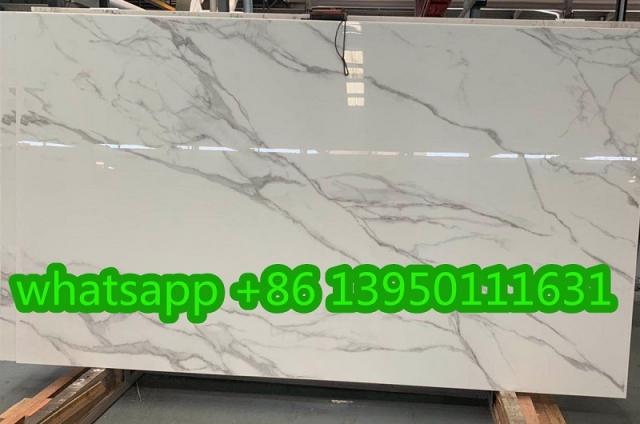 Statuario Nano Glass Slabs 112x64