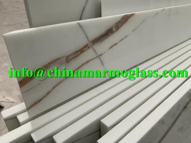 Nano Calacatta White Nanoglass Slab