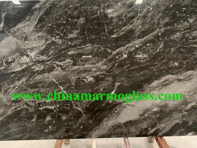 Nano glass marble look slabs XTS124